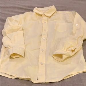 Janie and Jack yellow long sleeve shirt